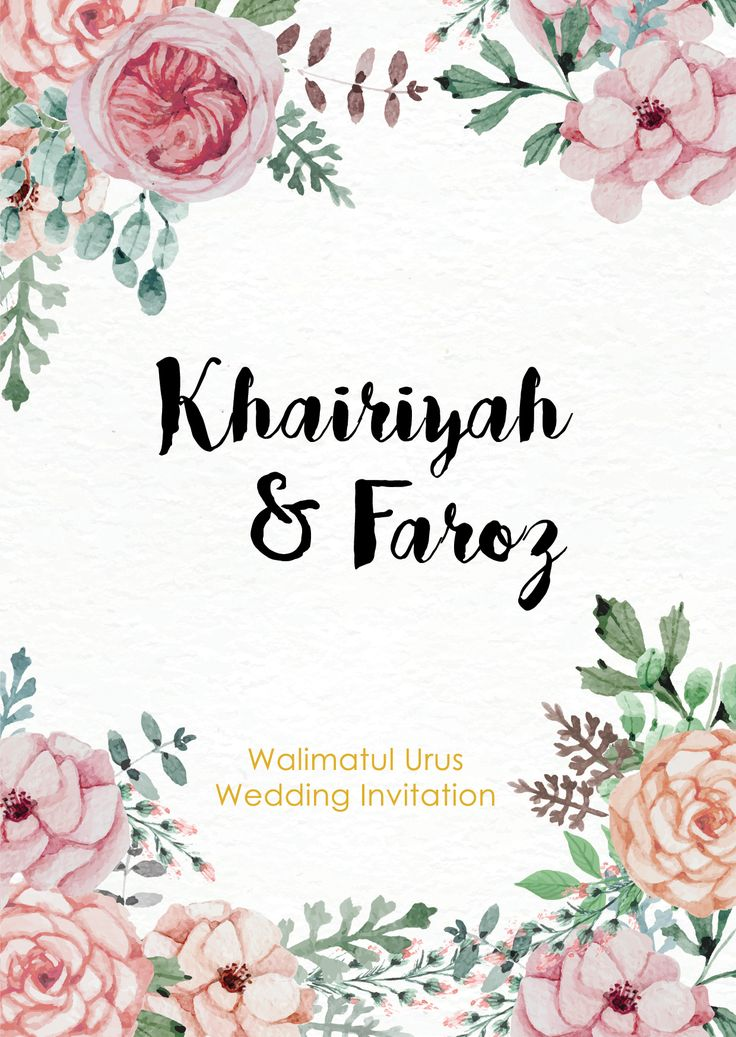 Wedding invite : Khairiyah & Faroz