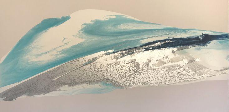 Benguela Tide 1800 x 900 mixed media on canvas #alexkrenzart #alexanderkrenzart #abstractlandscapes