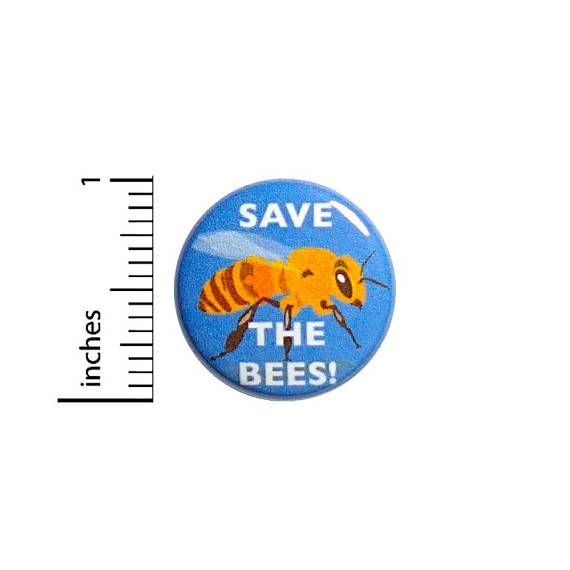 Cool Button Save The Bees Endangered Honey Bee Awareness
