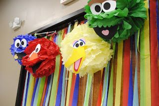 Elmo Extravaganza Birthday Party- decorations, favor bags, games and food.