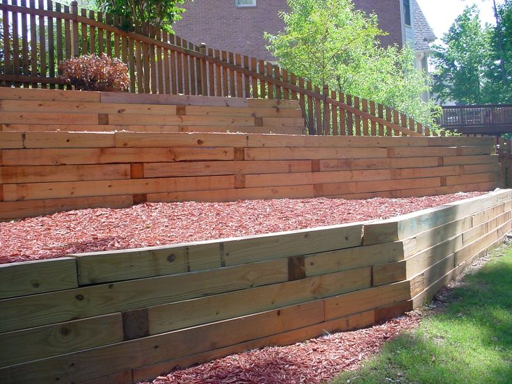 11 best Outside walls images on Pinterest Wood retaining wall