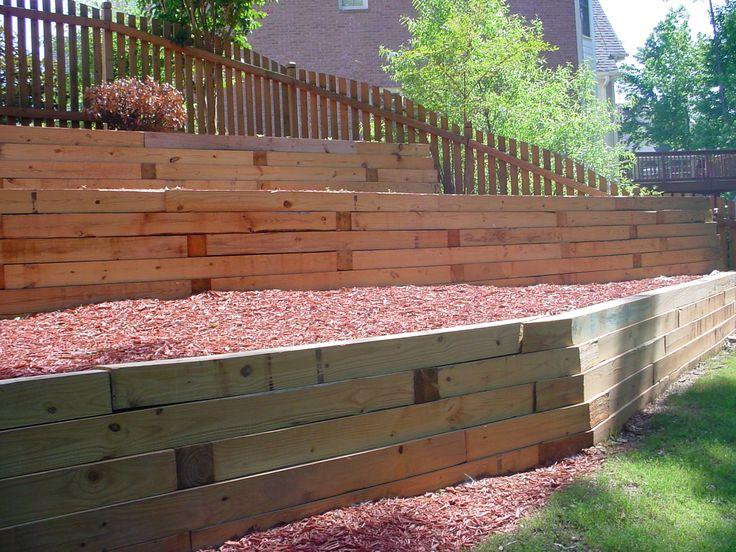 Best 20 Wood retaining wall ideas on Pinterest Sleeper wall