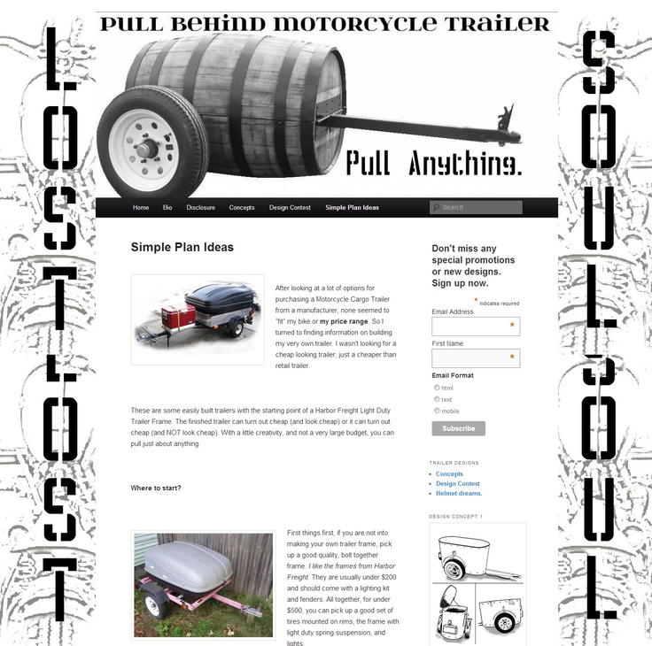 7 best Motorcycle trailers images on Pinterest | Motorcycle trailer ...
