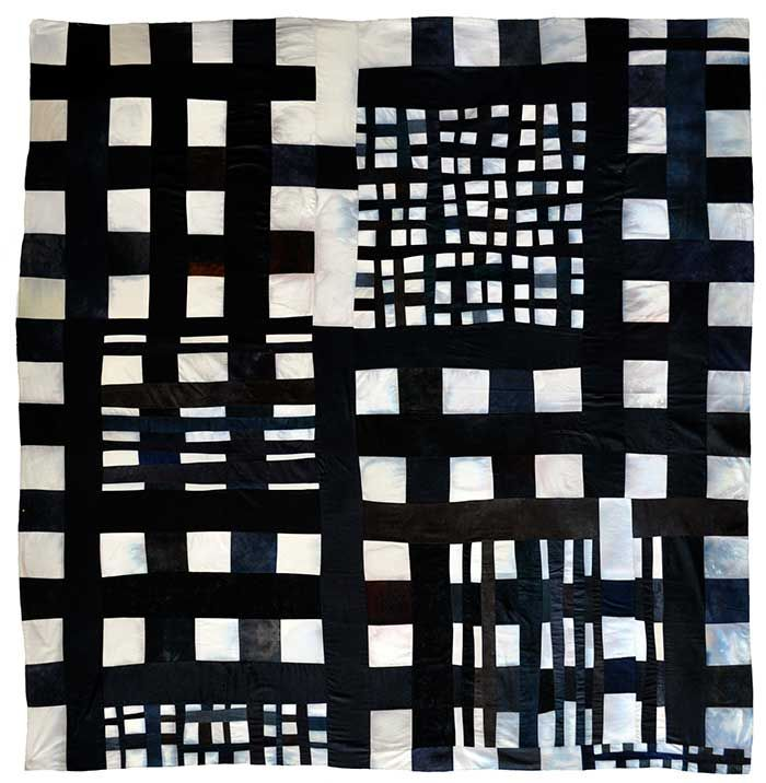 """Eleanor McCain - Art Quilts: New Works  Mixed Grid Stain Variation     2012, 72"""" x 72""""        http://www.eleanormccain.net"""