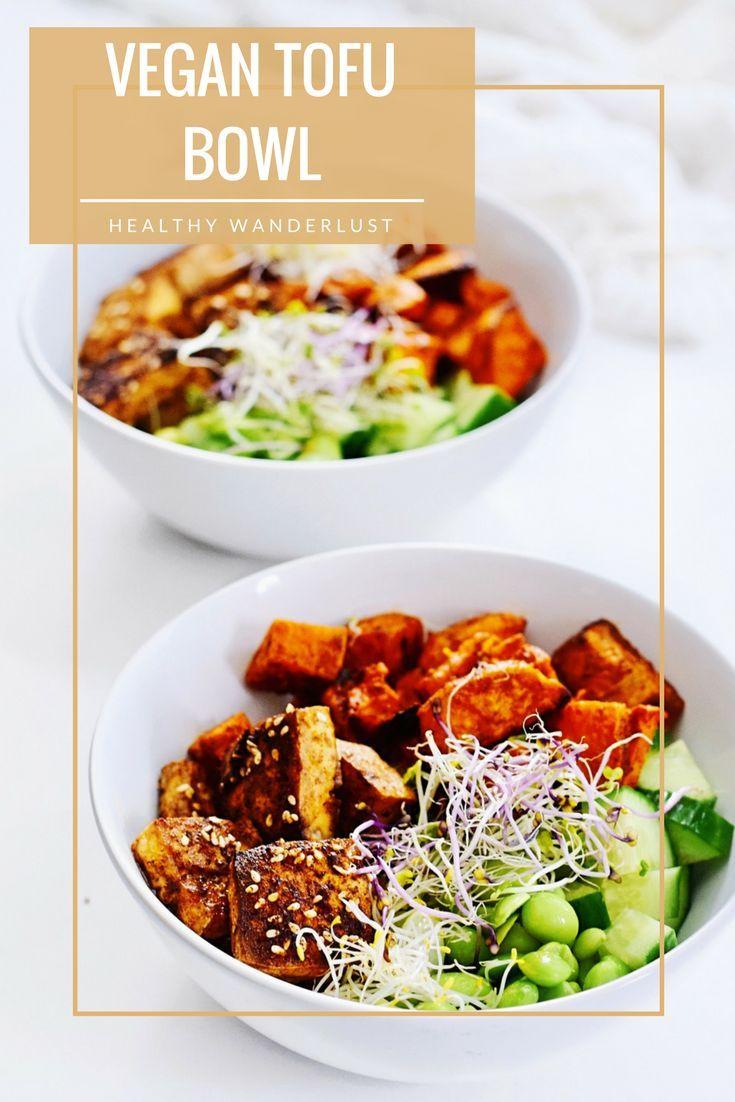 Vegan & Vegetarian - Gemarineerde tofu bowl - Het recept vind je op www.HealthyWanderlust.nl   HEALTH BLOG