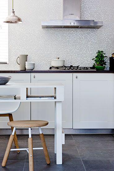 Keukenvloer natuursteen look VT Wonen tegelcollectie #tegels #vloer #keuken