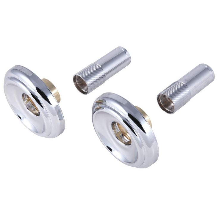 Delta 3 In Dia Pair Of 2 Handle Tub And Shower Faucet Metal