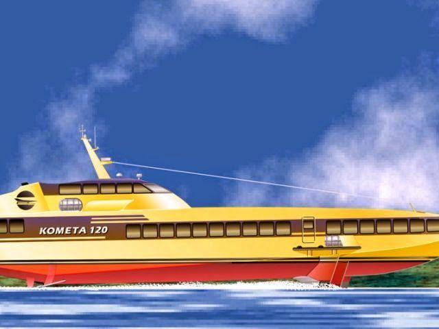Транспортный блог Saroavto: Пассажирские суда на подводных крыльях