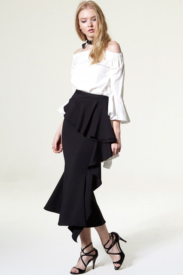anna Tulip Long Skirt Discover the latest fashion trends online at storets.com