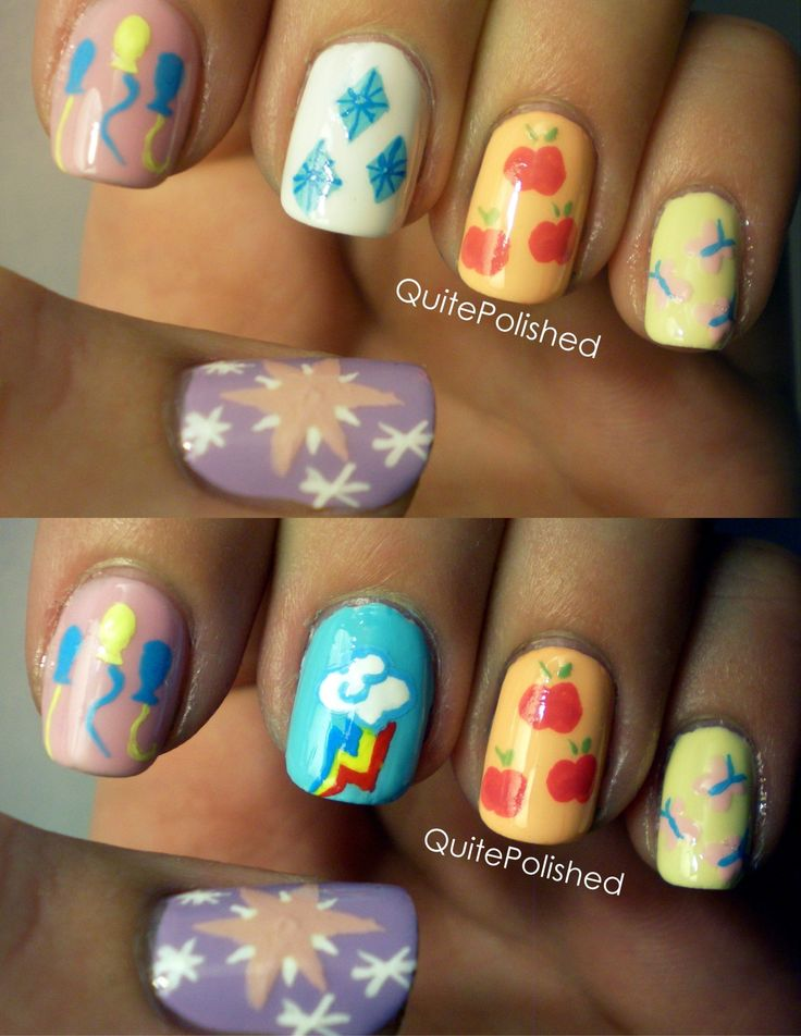 My little pony nails. Gonna have to learn these for my Bean & my god daughter Kylie! :-)