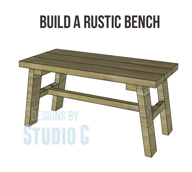 A quick and easy weekend project - Build a Rustic Bench!