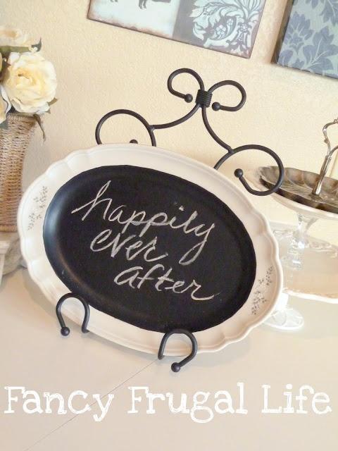 Fancy Frugal Life: DIY Chalkboard Wedding Plate