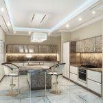 Роскошная кухня в современном стиле