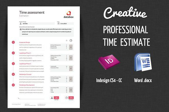 Professional Time Estimate by OFFI on @creativemarket
