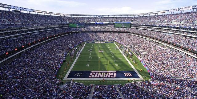 The New Giants Stadium, aka Met Life Stadium, E. Rutherford, NJ.