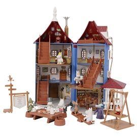 Mumin Huset är ett jättefint öppningsbart lekhus med tillbehör som ser ut precis som Muminhuset i Tove Janssons värld.