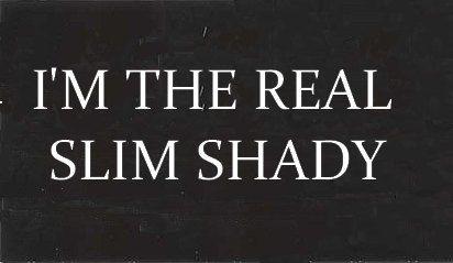 i'm the real slim shady