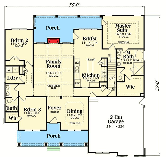 Flexible Plan With Front-to-Back Foyer - 75400GB | Architectural Designs - House Plans