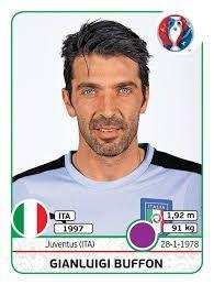 Gianluigi Buffon Italy - Euro 2016 #panini #euro2016 #Buffon #stickers