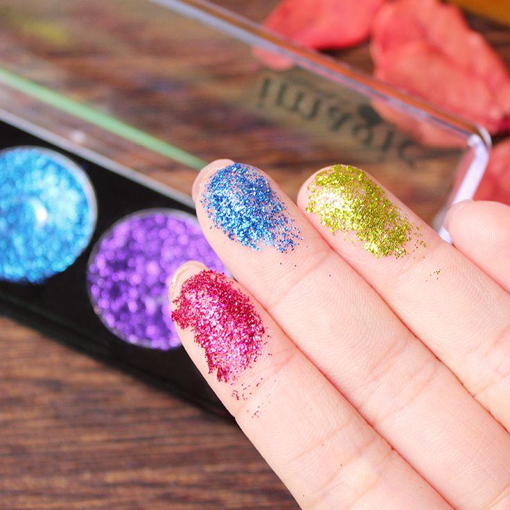 IMAGIC 5 Colors Makeup Pressed Glitter Eyeshadow Cosmetics Eye Shadow Pallete Brand Diamond Glitter Foiled Make. Click visit to buy #EyeShadow