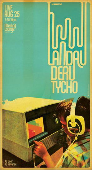 Poster Art - Scott Hansen of Tycho / Concert Poster : Landau Deru Tycho ( Graphic Design / Vintage Audio Photography / Screen Print )