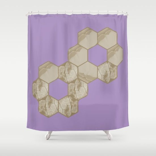 Hexagon flower and leaf in lilac - $68
