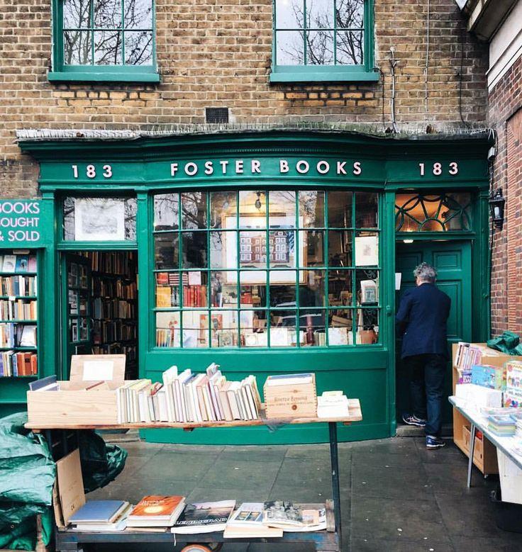 "bookmania: ""Foster's Bookshop in London (via @liolaliola on Instagram) """
