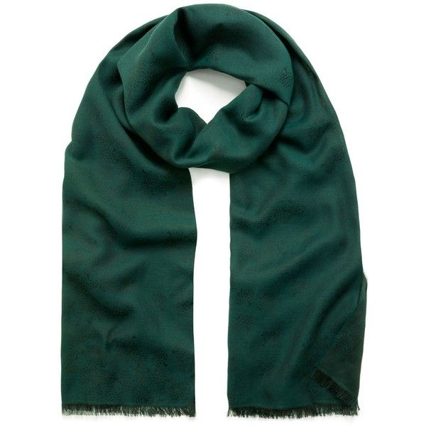 Mulberry Tamara Scarf (4,060 EGP) ❤ liked on Polyvore featuring accessories, scarves, ocean green, lightweight shawl, green shawl, green scarves and lightweight scarves