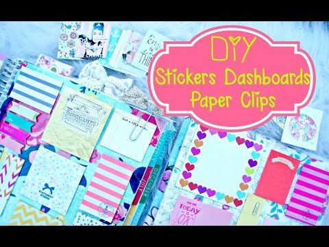 Belinda Selene: DIY Planner Supplies: Stickers, Paper Clilps, and Erin Condren Dashboard - YouTube #ecbloggers #fabfans #eclifeplanner