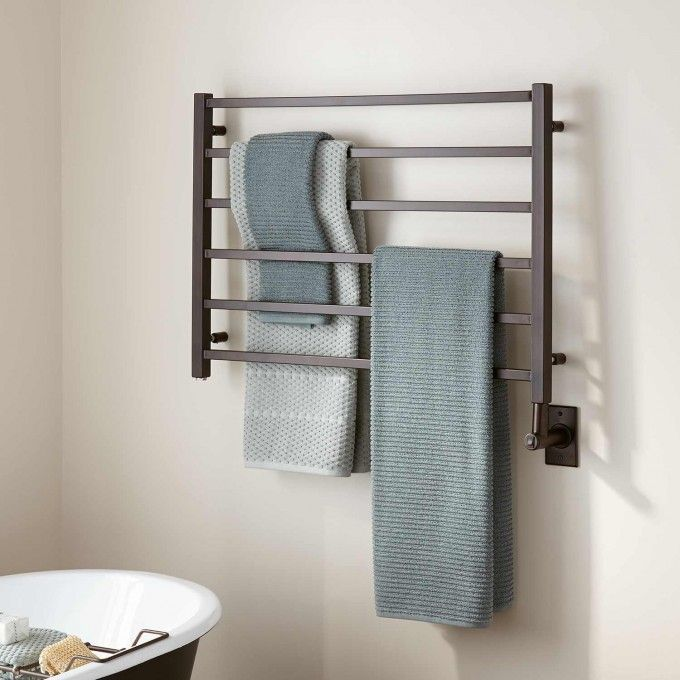 "33"" Miletos Hardwired Towel Warmer - Oil Rubbed Bronze"