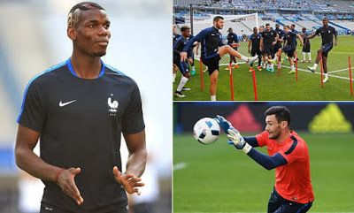 youngsnews: Pogba dons new patriotic haircut as France prepare...