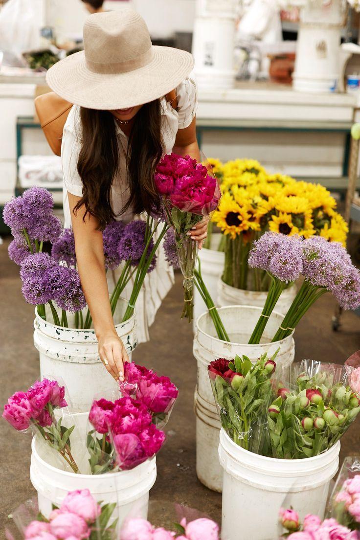 Downtown LA Flower Market.