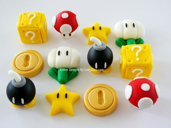 Hey, I found this really awesome Etsy listing at https://www.etsy.com/listing/118735098/12-edible-fondant-super-mario-inspired