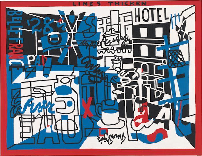 Stuart Davis, The Paris Bit, 1959, oil on canvas. ©ESTATE OF STUART DAVIS/LICENSED BY VAGA, NEW YORK/WHITNEY MUSEUM OF AMERICAN ART; PURCHASE, WITH FUNDS FROM THE FRIENDS OF THE WHITNEY MUSEUM OF AMERICAN ART, 59.38