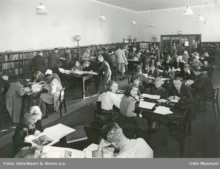 ca. 1945 - 1950, Deichmanske, lesesal barneavdeling