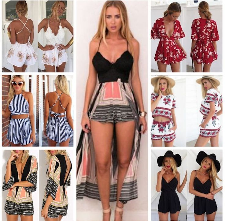 Uk #womens holiday mini #playsuit ladies jumpsuit #summer beach dress size 6 - 14,  View more on the LINK: http://www.zeppy.io/product/gb/2/252347880222/
