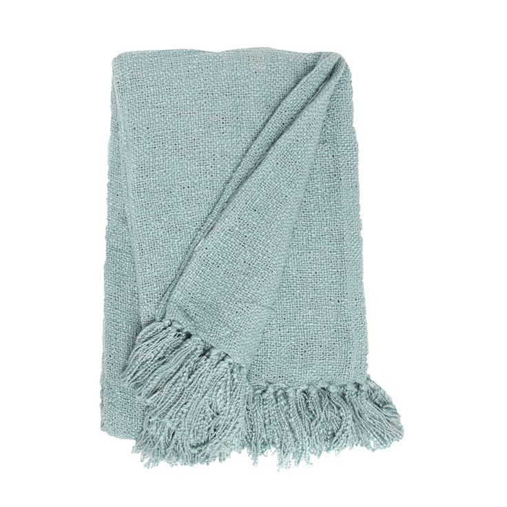 Home Collection Aqua textured throw- at Debenhams.com