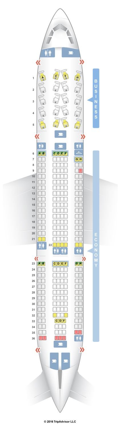 SeatGuru Seat Map American Airlines Airbus A330-200 (332)