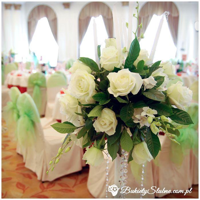 Dekoracje sali weselnej - róże