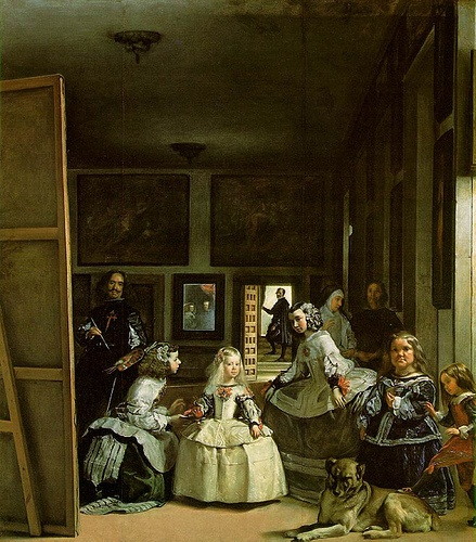 Diego Velasquez: Las Meninas.  The Prado, Madrid, Spain.  Memorable, beautiful, stunning, haunting.