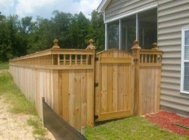 Lovely Wood Fence Gate On Slope And Wooden Fence Gate