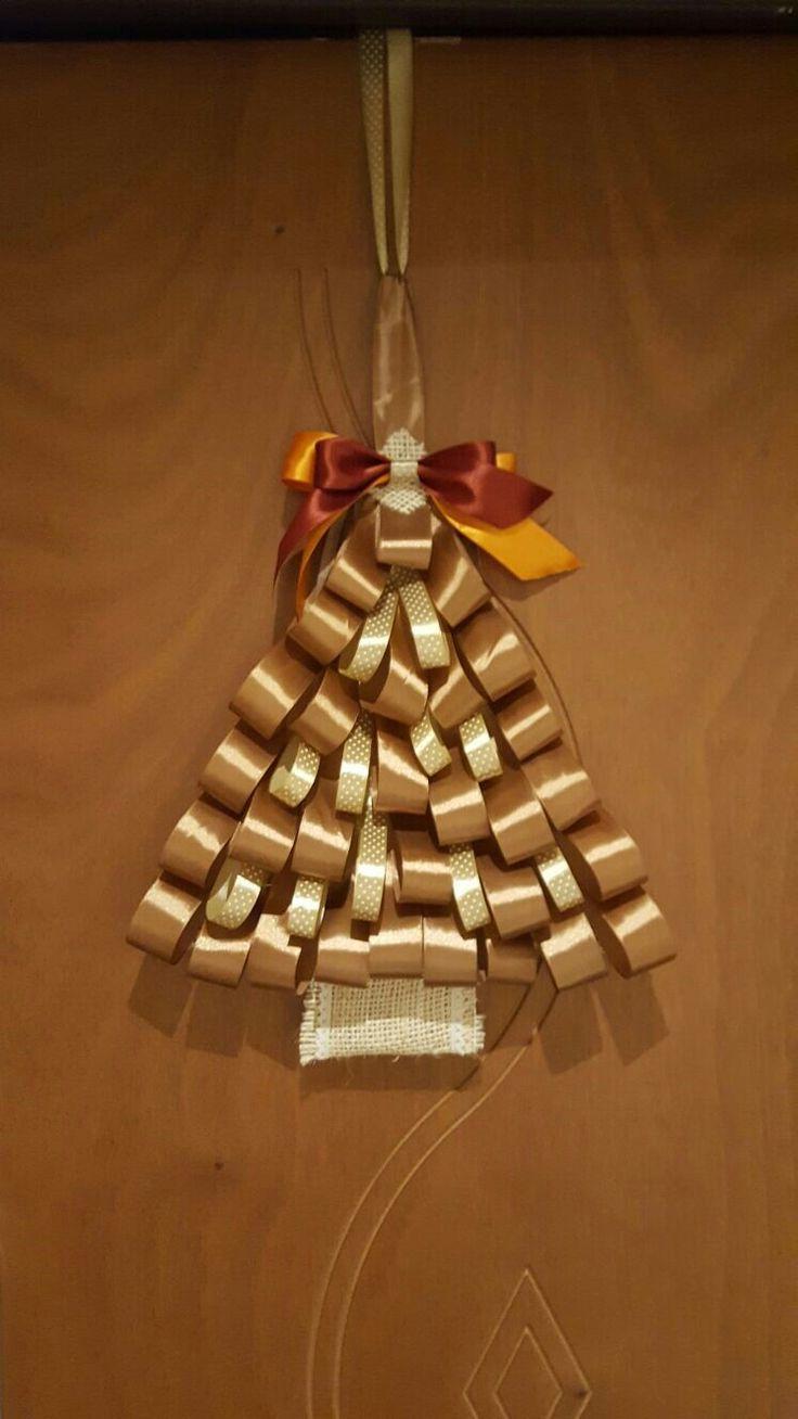 """""""Natale alla porta"""" Decoro handmade"""
