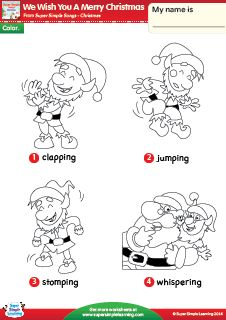 we wish you a merry christmas christmas vocabulary coloring worksheet from super simple learning