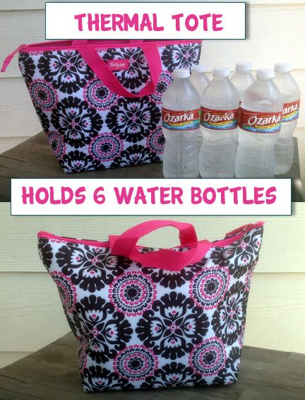 #ThirtyOne Thermal Tote holds 6 16.9 Fl Oz water bottles .... $18!!  www.mythirtyone.com/kristansiegel