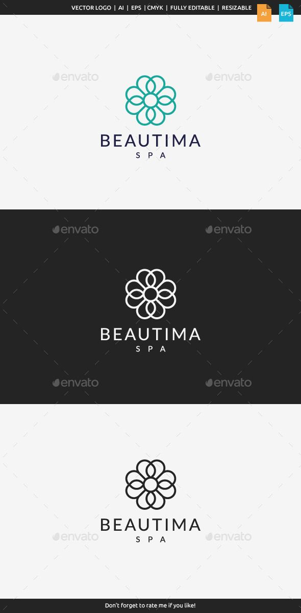 Beautima Spa  Logo Design Template Vector #logotype Download it here: http://graphicriver.net/item/beautima-spa-logo/11207111?s_rank=979?ref=nesto
