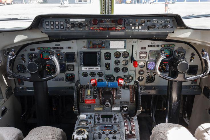 Cabina del Fokker F-27