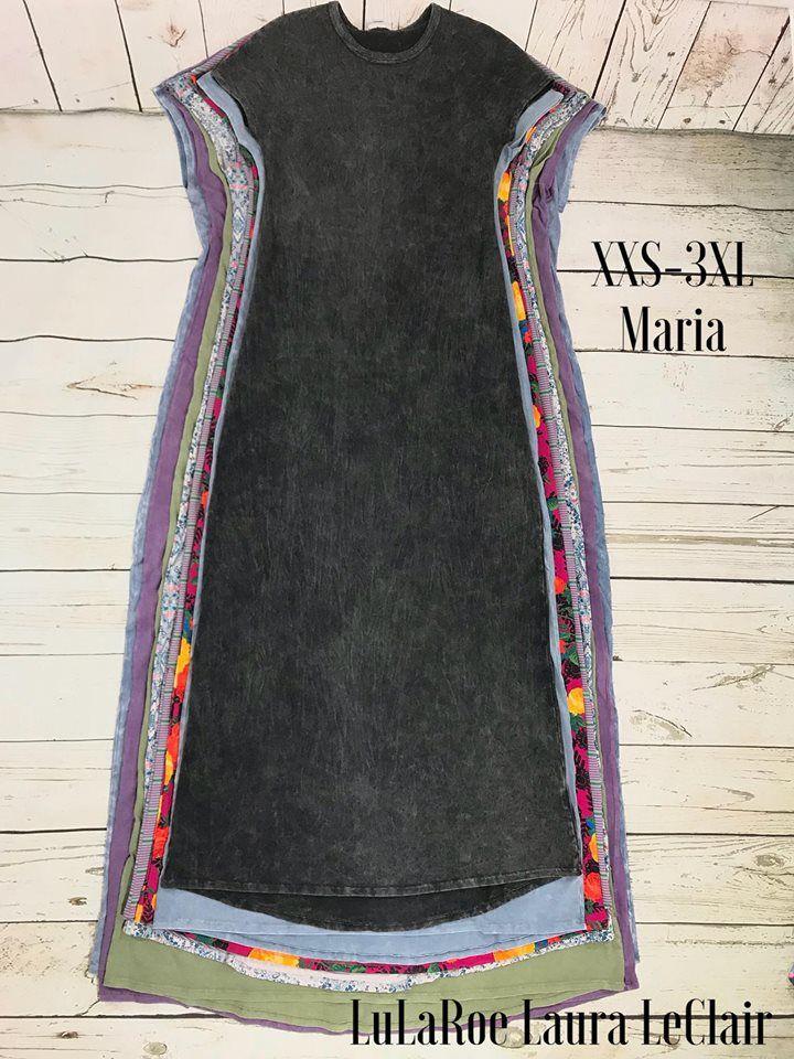 6f29094f38d LuLaRoe Size comparison of the Maria cap sleeved maxi dress sizes xxs-3xl