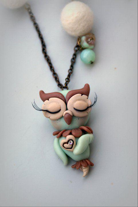 "collana ""sweet owl"" by countrymomo, via Flickr"