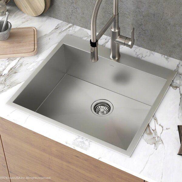 Pax Zero Radius Topmount Series 25 X 22 Drop In Kitchen Sink In