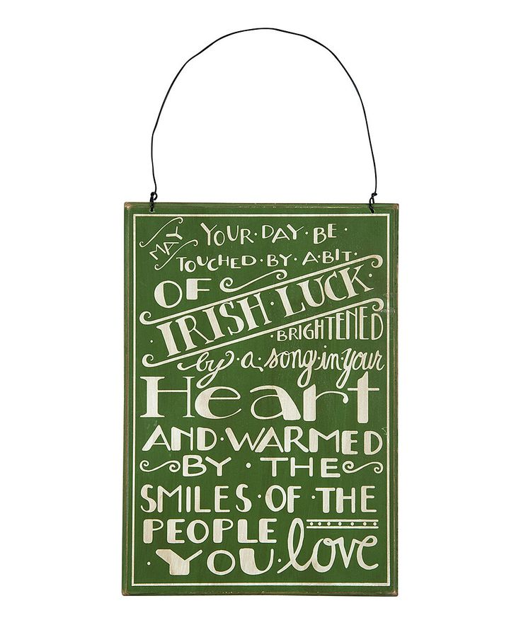 Look at this 'Irish Luck' Wall Plaque on #zulily today!